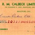 Calbeck's 1962 Check