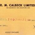 Calbeck's 1964 Check