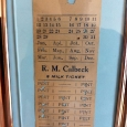 Calbeck's Pre 1921 Milk Ticket